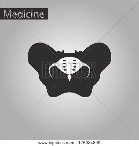 black and white style icon of pelvic bones