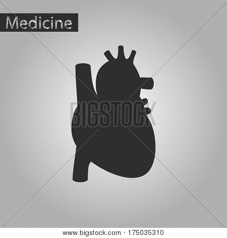 black and white style icon of heart