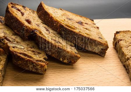Slices Of Malt Bread Handmade