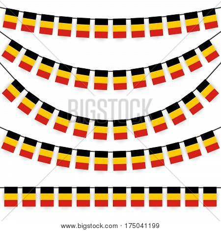 Garlands With Belgium National Colors