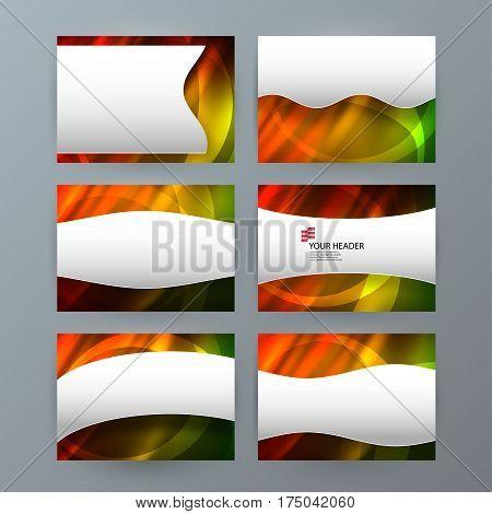 Set Templates Horizontal Presentation Brochure Powerpoint Slide10