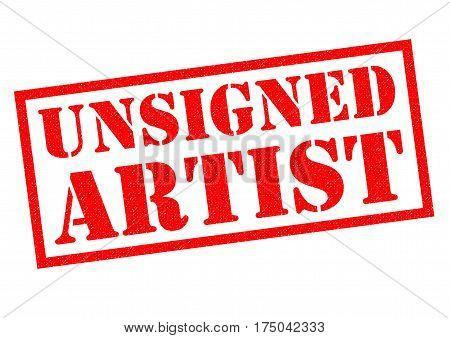 UNSIGNED ARTIST red Rubber Stamp over a white background.