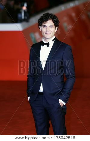 Rome Italy - October 13 2016: Rome Film Festival Eleventh Edition. Red carpet with Moonlight pictured actor Alessandro Tersigni