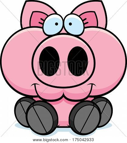 Cartoon Pig Sitting