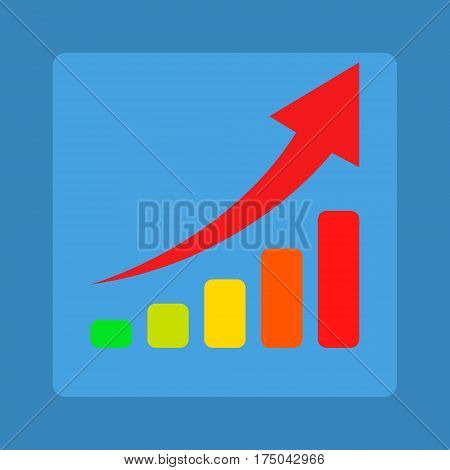 Ranking table on a blue background a new vector illustration
