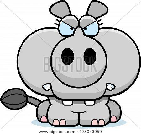 Cartoon Angry Rhinoceros