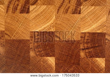 Wooden cutting board, cross cut chess board texture