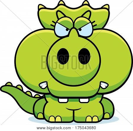 Cartoon Angry Triceratops