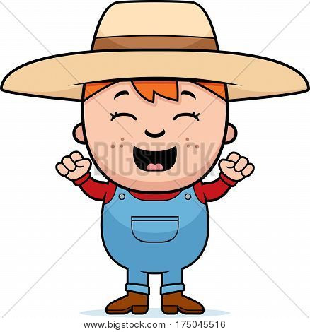 Child Farmer Excited