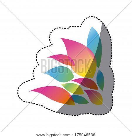 color pointed petals icon, vector illustraction design image