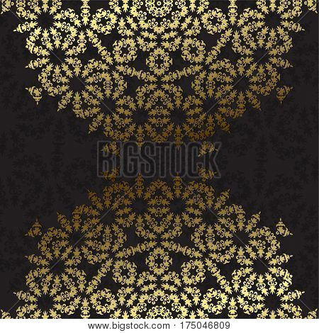 Elegant background with lace ornament and place for text. Floral elements ornate background