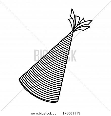 silhouette party hat icon, vector illustraction desin image