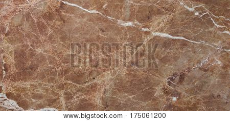 Beautiful brown marble stone background with white veins