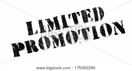 Limited Promotion rubber stamp. Grunge design with dust scratches. Effects can be easily removed for a clean, crisp look. Color is easily changed.