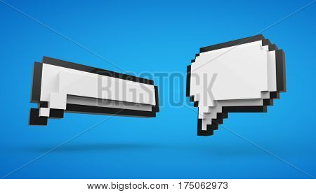 3d Pixel speech bubble