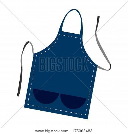 Isolated blue apron on a white background, Vector illustration