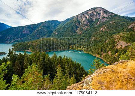 Diablo Lake in North Cascades National Park Washington