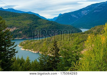 Ross Lake in North Cascade National Park Washington