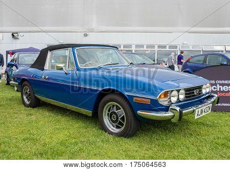 Blue 1973 Triumph Car