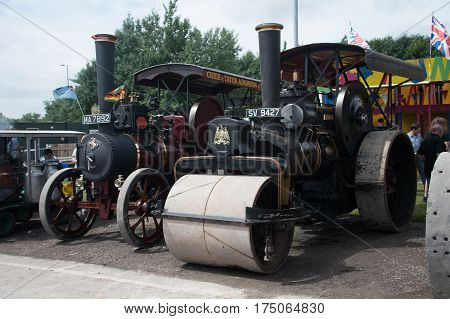 Roller And Tractor
