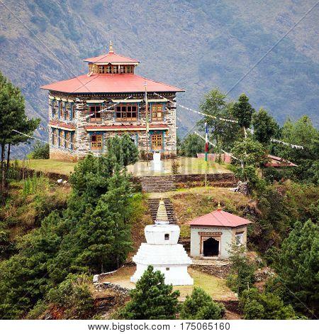 Beautiful buildings near Salleri village Solukhumbu Everest area Nepal