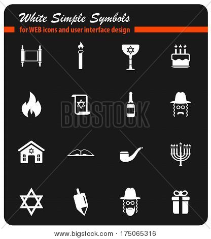 Hanukkah simply symbol for web icons and user interface