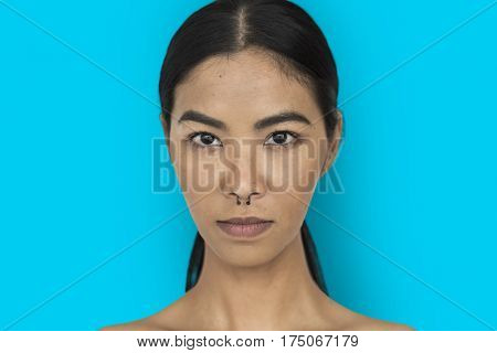 Woman Pierced Nose Ring Confidence Self Esteem Portrait