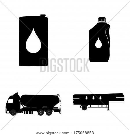 Set of oil related objects on a white background, Vector illustration