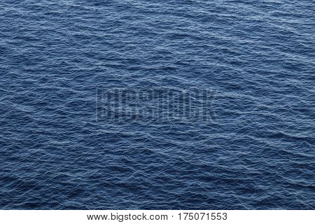Blue ocean background with moderate waves