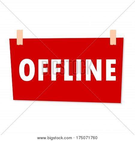 Offline Sign - illustration on white background
