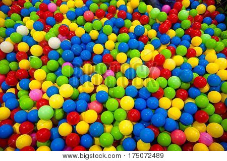 Many colour plastic balls for background. plastic balls in kid playground