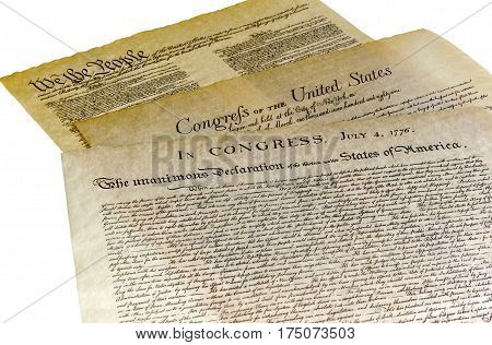Declaration Of Independence, Bill Of Rights, Constitution