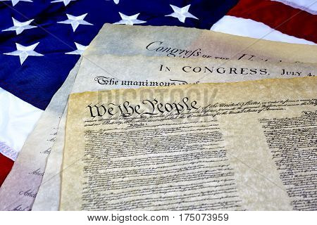 Us Constitution Declaration Of Independence Bill Of Rights