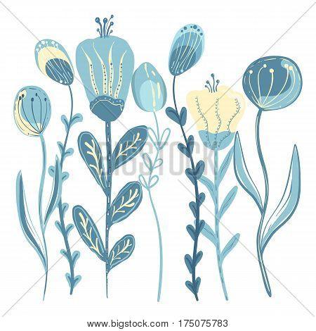 Floral design over white background vector illustration