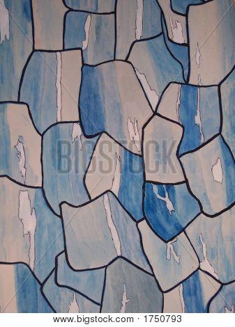 Blue Rocky Wall