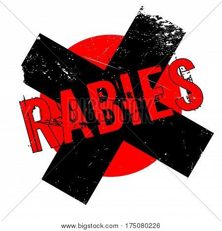 Rabies rubber stamp. Grunge design with dust scratches. Effects can be easily removed for a clean, crisp look. Color is easily changed.