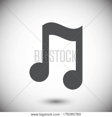 Music note icon stock vector illustration flat design