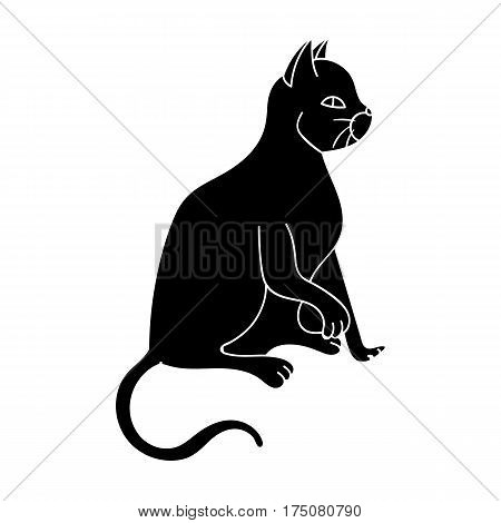 American Shorthair icon in black design isolated on white background. Cat breeds symbol stock vector illustration.