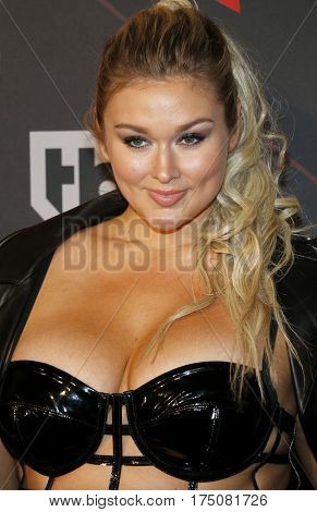 Hunter McGrady at the 2017 iHeartRadio Music Awards held at the Forum in Inglewood, USA on March 5, 2017.