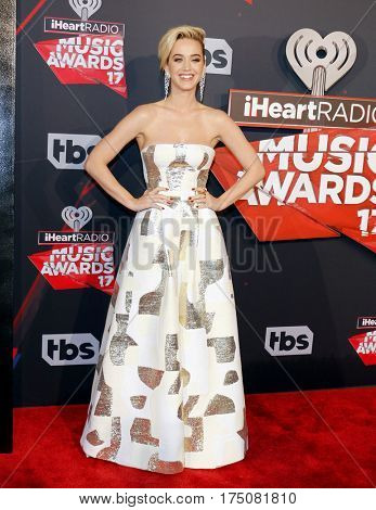 Katy Perry at the 2017 iHeartRadio Music Awards held at the Forum in Inglewood, USA on March 5, 2017.