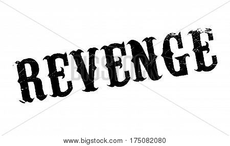 Revenge rubber stamp. Grunge design with dust scratches. Effects can be easily removed for a clean, crisp look. Color is easily changed.