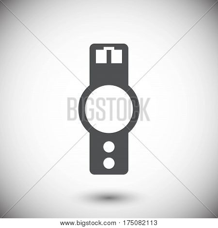 wristwatch icon  stock vector illustration flat design