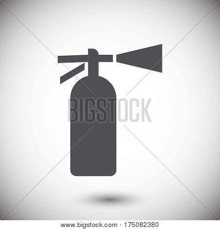 extinguisher icon  stock vector illustration flat design