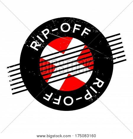 Rip-Off rubber stamp. Grunge design with dust scratches. Effects can be easily removed for a clean, crisp look. Color is easily changed.
