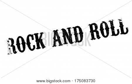 Rock And Roll rubber stamp. Grunge design with dust scratches. Effects can be easily removed for a clean, crisp look. Color is easily changed.