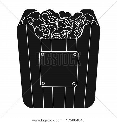 Cup in the form of Golden popcorn.The prize of spectator sympathies.Movie awards single icon in black style vector symbol stock web illustration.