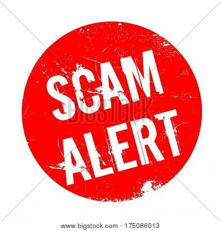 Scam Alert rubber stamp. Grunge design with dust scratches. Effects can be easily removed for a clean, crisp look. Color is easily changed.