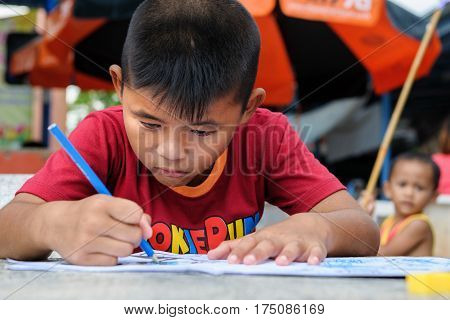 Thai Disability Boy