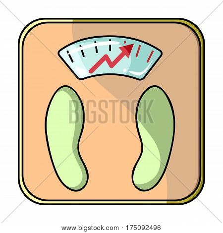 Scales show weight.scales for diabetics.Diabetes single icon in cartoon style vector symbol stock web illustration.