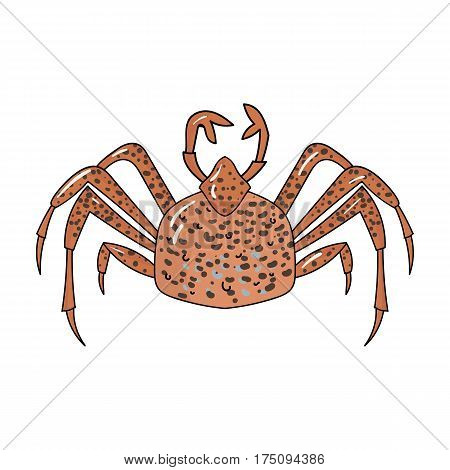 King crab icon in cartoon design isolated on white background. Sea animals symbol stock vector illustration.